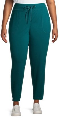 Athletic Works Women's Plus Size Core Knit Athleisure Sweatpants
