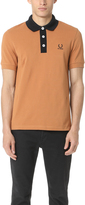 Fred Perry by Raf Simons Contrast Neck Pique Polo Shirt