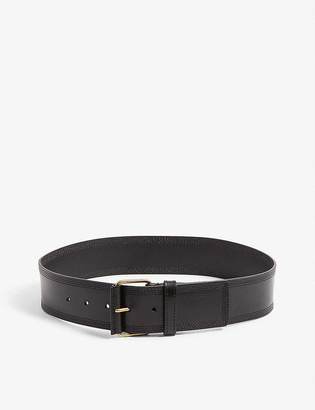 Reiss Lou stitched leather belt