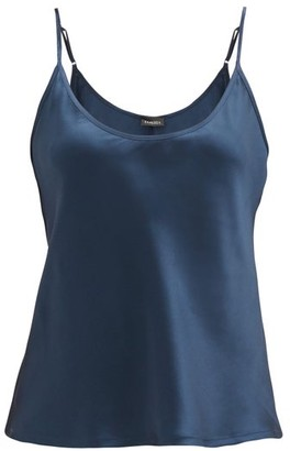 La Perla Silk-satin Cami Top - Dark Blue