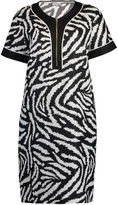 Escada Sport Dadye Short Sleeve Zebra Print Dress