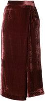 Pt01 velvet palazzo trousers