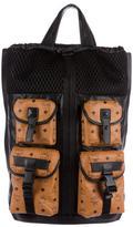 MCM Visetos Convertible Tote Backpack
