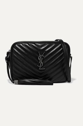 Saint Laurent Lou Quilted Leather Shoulder Bag - Black