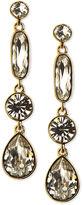 Givenchy Earrings, Gold-Tone Swarovski Element Triple Drop Earrings