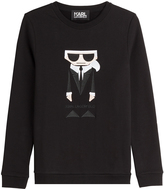 Karl Lagerfeld Kocktail Cotton Sweatshirt