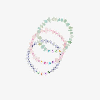 Tbalance Crystals Multicoloured Cool To Be Kind Crystal Bracelet Set