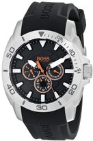 HUGO BOSS BOSS Men's 1512950 Orange Stainless Steel and Silicone Casual Watch