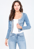 Bebe Bling Detail Denim Jacket
