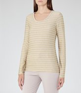 Reiss Sail Metallic Striped Top
