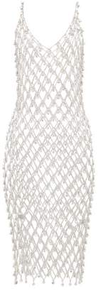 Paco Rabanne Chainmail Crystal-embellished Dress - Womens - Silver
