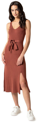 Forever New Colette Fit and Flare Midi Knit Dress Chestnut