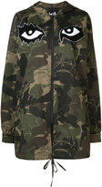 Haculla camouflage printed hooded coat