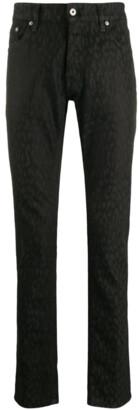 Just Cavalli Straight Leg Leopard Print Jeans
