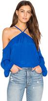 Karina Grimaldi Santina Solid Top in Blue. - size M (also in )