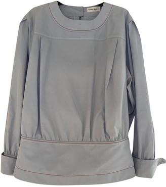 Sonia Rykiel Blue Cotton Top for Women