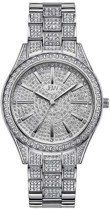 JBW Cristal 1/8 Ct. T.W. Genuine Diamond Womens Diamond Accent Silver Tone Stainless Steel Bracelet Watch-J6383c