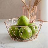 Copper Wire Kitchen Fruit Bowl