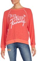 Wildfox Couture Just Keep Pouring Graphic Sweatshirt