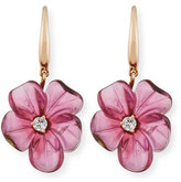 Rina Limor Fine Jewelry 19mm Pink Tourmaline Flower Earrings with Diamonds