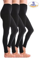 3-Pack Fleece Lined Thick Brushed Leggings by Homma (, BLACKx3)