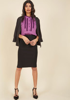 ModCloth I'll Have the Usual Pencil Skirt in Black in 1X