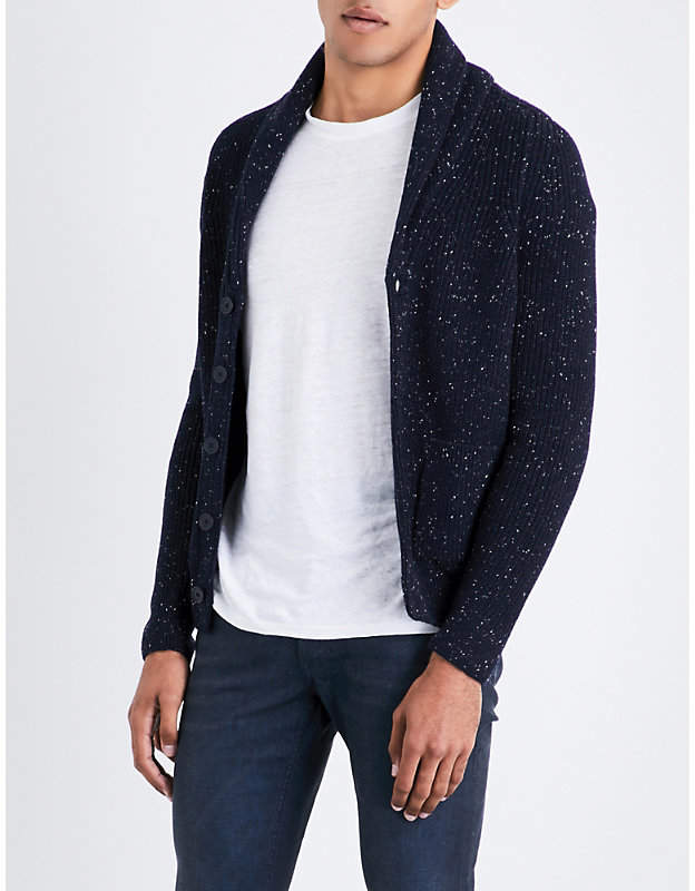 Sandro Ribbed wool-blend cardigan