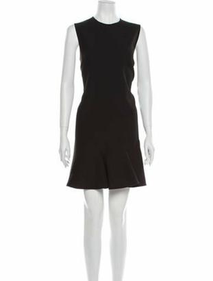 Victoria Victoria Beckham Crew Neck Mini Dress Black