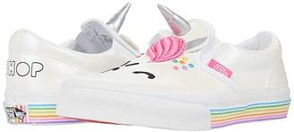 Vans Kids Classic Slip-On UNC (Big Kid) ((Flour Shop) Cara The Unicorn) Kid's Shoes