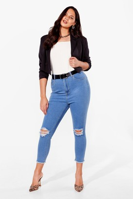 Nasty Gal Womens Rip's the in Thing Plus Skinny Jeans - Black - 16