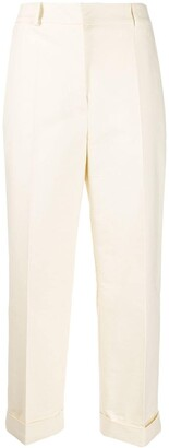 Christian Wijnants front pleated cropped trousers