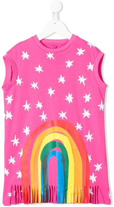 Stella McCartney star print rainbow detail T-shirt