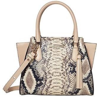 Brahmin Ballington Mini Priscilla Satchel (Latte) Satchel Handbags