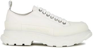 Alexander McQueen Tread white canvas sneakers