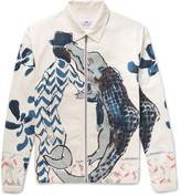 Folk Goss Brothers Alligator Printed Cotton-Twill Jacket