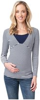 Ripe Maternity Ripe Penny Feeding Top Ls Stripe - Navy/White - X-Small