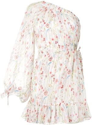Alexis Edyta floral one shoulder dress
