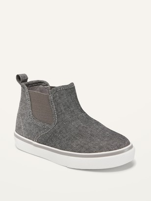 Old Navy Unisex Chambray Mid-Top Slip-On Sneakers for Toddler