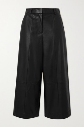 Jason Wu Belted Faux Leather Wide-leg Pants - Black