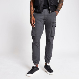 River Island Charcoal cargo trousers