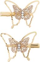 Monsoon 2x Glitter Wire Butterfly Hair Clips