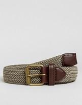 New Look Woven Belt In Khaki