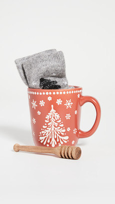 Gift Boutique Cozy Up Mug with Socks and Honey Dipper