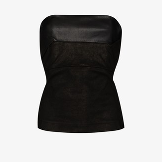 Rick Owens Leather Bustier Top