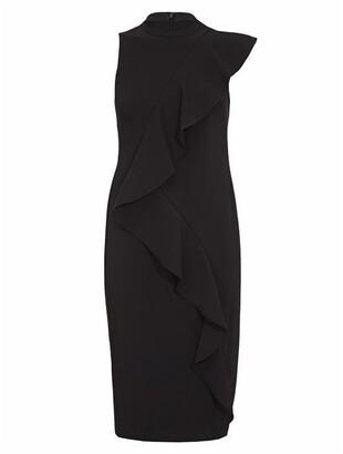 Adrianna Papell Stretch Woven Ruffle Dress
