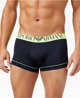 Emporio Armani Men's Fluo Piping Microfiber Trunks