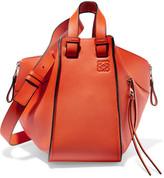 Loewe Hammock Small Textured-leather Shoulder Bag - Orange