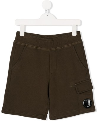 C.P. Company Kids Logo Plaque Casual Shorts