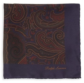 Ralph Lauren Purple Label Floral Silk Pocket Square