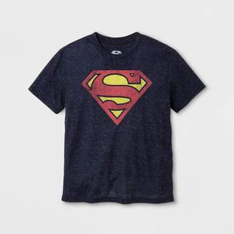 DC Comics Boys' Superman Short Sleeve Graphic T-Shirt - Navy